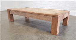 Sale 9174 - Lot 1176 - Rustic timber coffee table (h:38 x w:160 x d:91cm)