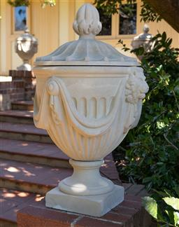 Sale 9248H - Lot 270 - A single composition stonewarecomposition urn height 80cm