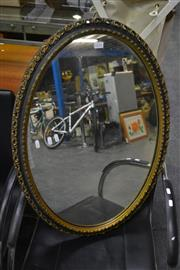 Sale 8093 - Lot 1070 - Oval Mirror w Ornate Gilt Frame