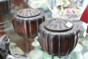 Sale 8100 - Lot 53 - Melon Shaped Weichiguan Chinese Chess Covered Boxes