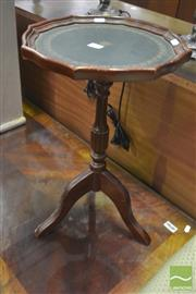 Sale 8312 - Lot 1089 - Leather Inlaid Top Wine Table on Tripod Base