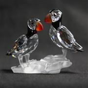 Sale 8412B - Lot 14 - Swarovski Crystal Puffins (1) with Box - Height 6.5cm