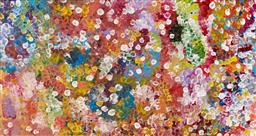 Sale 9239A - Lot 5071 - JANET GOLDER KNGWARREYE (1973 - ) - Yam Dreaming 173 x 92 cm (stretched and ready to hang)