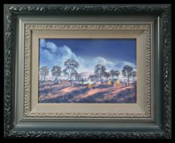 Sale 7919 - Lot 525 - Jack Absalom - Camp for the Night 20 x 30cm