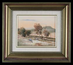 Sale 7923 - Lot 580 - Michael Taylor - Two Aussies 19 x 24cm