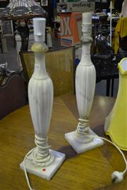 Sale 8124 - Lot 1011 - Pair of Marble Table Lamp Bases