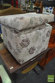 Sale 8338 - Lot 1609 - Graduated Ottoman with Floral Upholstery