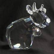 Sale 8412B - Lot 15 - Swarovski Crystal Cow (Large Missy Mo) with Box (the lov lots) - Height 18cm