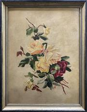 Sale 8682 - Lot 2018 - Artist Unknown - Still Life, oil on board, 66 x 52cm (frame size), initialled lower right