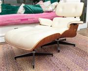 Sale 8838H - Lot 96 - A Charles Eames for Herman Miller lounge chair and ottoman circa 2015