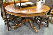 Sale 8124 - Lot 1076 - Round Top Inlayed Breakfast Tble