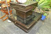 Sale 8175 - Lot 1051 - Glass Top Coffee Table and Matched Side Table