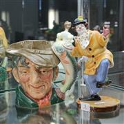 Sale 8351 - Lot 5 - Royal Doulton Character Jug The Poacher & Royal Doulton Figure The Clown (Restored)