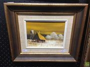 Sale 8622 - Lot 2078 - Barbara ODonald - Lonely Farmhouse, oil on canvas board, 30.5 x 36 (frame size), signed lower right