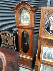 Sale 8728 - Lot 1011 - Good Edwardian Maple Carillion Longcase Clock, with three train movement, the gilt dial with silvered chapters for Whittington & Wes...