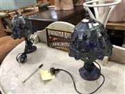 Sale 8854 - Lot 1076 - Pair of Leadlight Shade Table Lamps
