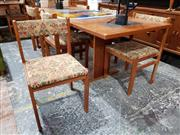Sale 8908 - Lot 1068 - Gangso Mobler Danish Teak Table with Slate Inserts & Six Chairs