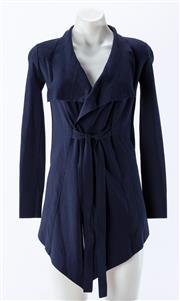Sale 8910F - Lot 51 - A Scanlan Theodore wrap jacket in navy, size small