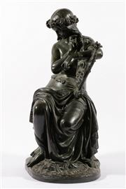 Sale 9010 - Lot 32 - Antique Bronze Probably Loreley, The River God of the Rhine H: 54cm