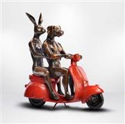 Sale 8191A - Lot 47 - Gillie and Marc (XX) - They rode the red vespa and romance followed. 23 (h) x 9 (d) x 21cm (w)