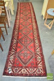 Sale 8257 - Lot 1083 - Persian Hand Knotted Woollen Runner (420 x 88cm)