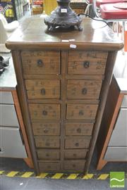 Sale 8406 - Lot 1085 - Chinese Medicine Cabinet w 14 Drawers