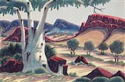 Sale 8611A - Lot 5001 - Kevin Namatjira (1958 - ) - The Old Gum 23 x 35cm