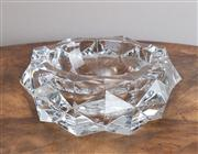 Sale 8650A - Lot 18 - A heavy gauge Baccarat crystal faceted bowl, Diameter 18cm.