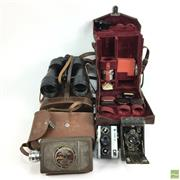 Sale 8648A - Lot 23 - Kodak Camera Together With Other Cameras Incl Rolei, And Other Wares Incl Ross Binoculars