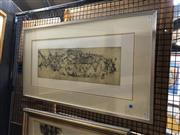Sale 8856 - Lot 2013 - French School Poisson I colour etching/aquatint, 51 x 90.5cm (frame), signed and dated lower right