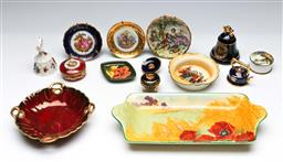 Sale 9156 - Lot 91 - A group of ceramics inc Royal Doulton dish (L 28cm) together with others inc Moorcroft, Limoges and others