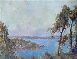 Sale 9214A - Lot 5013 - ANDREW PARK Sydney Harbour Scene oil on canvas 34.5 x 44.5 cm (frame: 51 x 61 cm) signed lower right