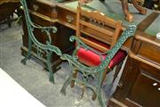 Sale 8093 - Lot 1321 - Cast Metal Bench Ends