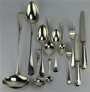 Sale 8130 - Lot 32 - English Hallmarked Sterling Silver Cutlery Setting
