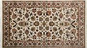 Sale 8276B - Lot 25 - Indo Kashan Silk & Wool 153cm x 89cm RRP $800