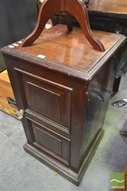 Sale 8277 - Lot 1076 - Timber Single Door Cabinet