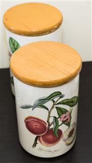 Sale 8310A - Lot 118 - A pair of Portmeirion canisters in the Pomona pattern