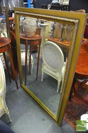 Sale 8328 - Lot 1029 - Large Gold Framed Mirror with bevelled edge, 110 x 140cm