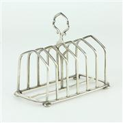 Sale 8413 - Lot 64 - English Hallmarked Sterling Silver Edward VII Toast Rack
