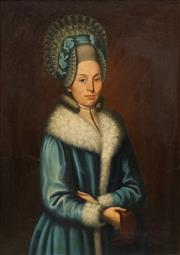Sale 8665 - Lot 560 - Artist Unknown - Portrait of a Noble Woman 102 x 74.5cm