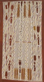 Sale 8718 - Lot 504 - Jimmy Moduk (1942 - ) - Honey Dreaming, c2010 natural pigments on canvas