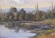 Sale 8722A - Lot 5012 - Werner Filipich (1943 - ) (2 works) - Hawkesbury River; Kangaroo Valley 11 x 16cm (each)