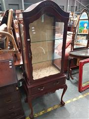 Sale 8744 - Lot 1055 - Timber and Glass Display Cabinet