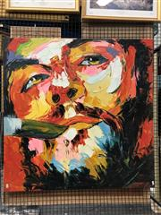 Sale 8779 - Lot 2029 - An original painting of Che Guevera, 100 x 100cm