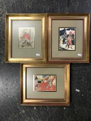 Sale 8990 - Lot 2063 - Marc Chagall (3 works) Town Scenes, decorative prints, Frame; 31 x 27 cm, signed