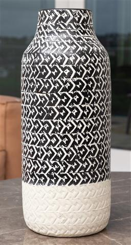 Sale 9150H - Lot 13 - An Amalfi vase with geometric design, Height 47cm
