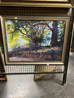 Sale 9176 - Lot 2055 - GARRY MAYO Garry Mayo The Old Tree acrylic on canvas, frame: 55 x 70 cm , signed lower right -