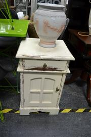 Sale 8019 - Lot 1020 - White Painted Bedside Cabinet