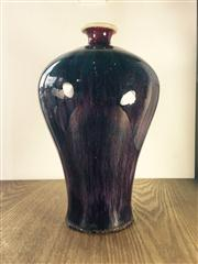 Sale 8298 - Lot 46 - Chinese red glaze Meiping vase, marks to base, H. 30cm