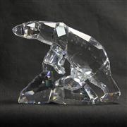 Sale 8412B - Lot 16 - Swarovski Crystal Bear on Rocks with Box - Height 12cm